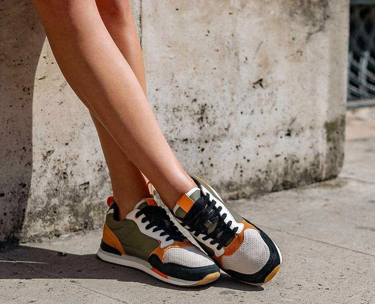 HOFF Vienna sneakers orange/green