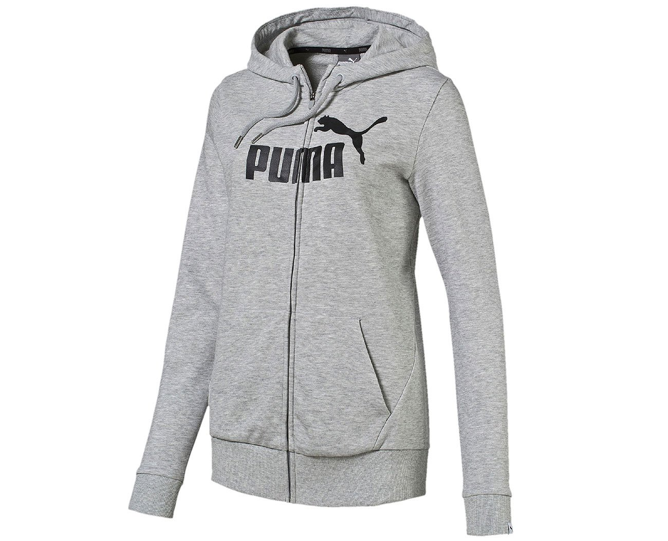 Puma ESS FZ Hoody TR W Light Gray Heather bluza