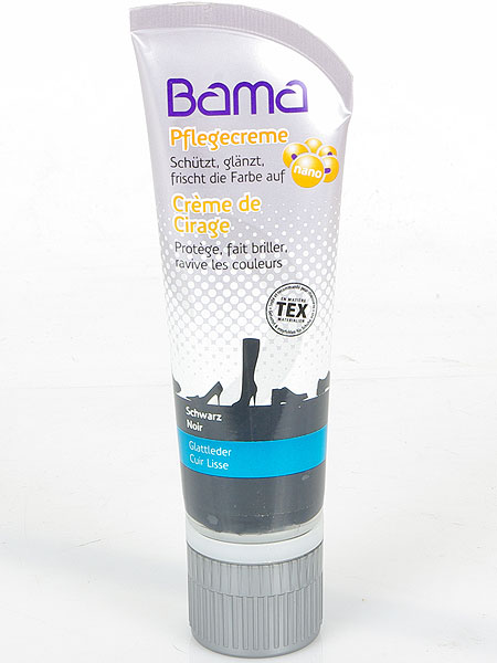 Bama Nano krem do skór czarny 75 ml