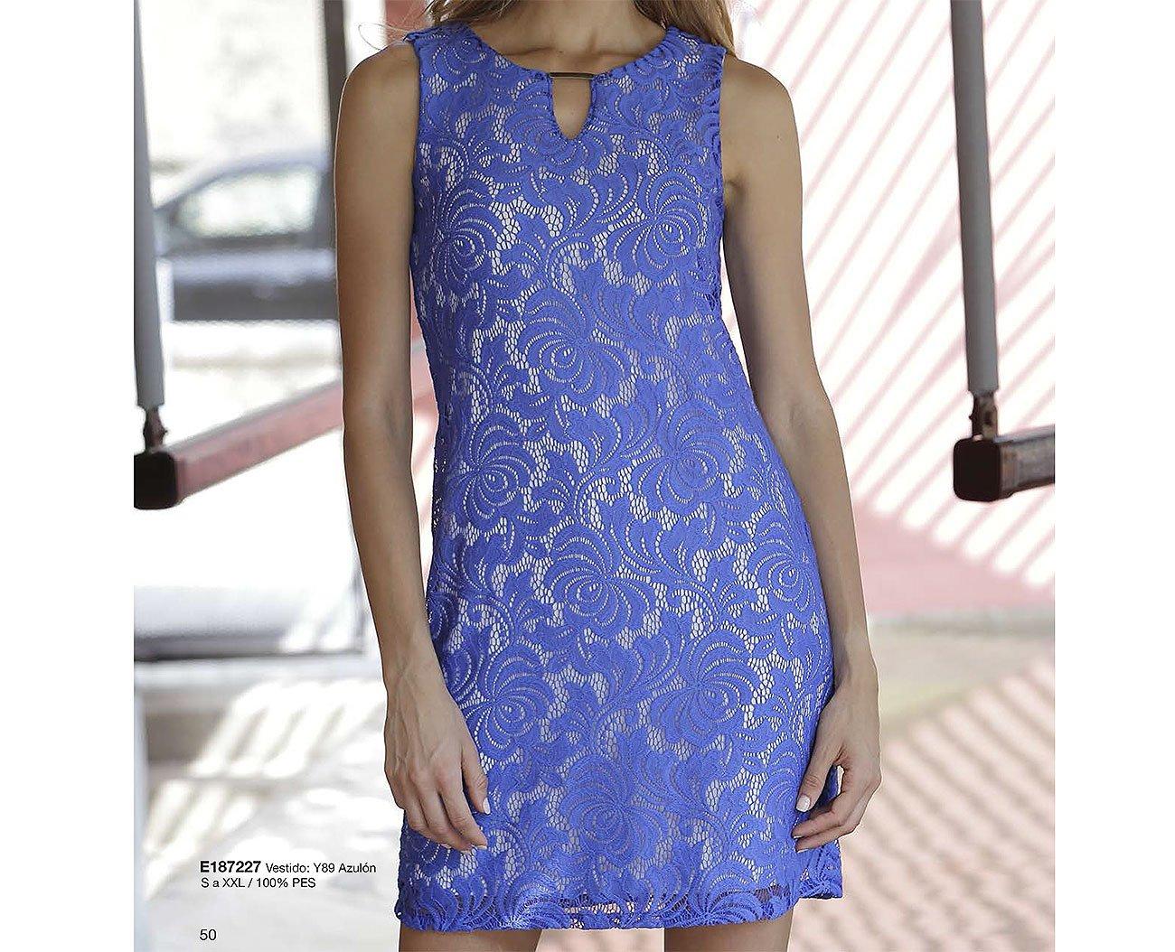 Massana MSN E187227 sukienka azulón