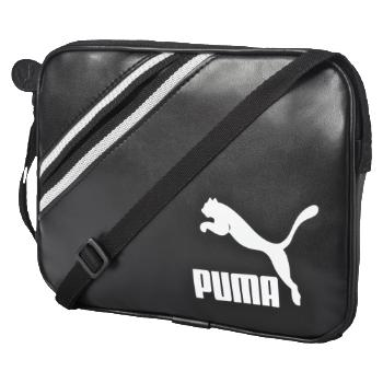 PUMA ARCHIVE SMALL SHOULDER BAG PU BLACK-WHIT 073787 TORBA