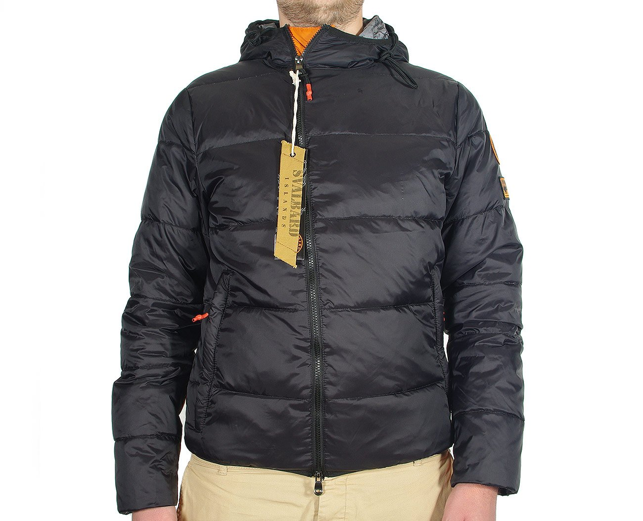 Svalbard Islands Bomber Nansen kurtka feather black
