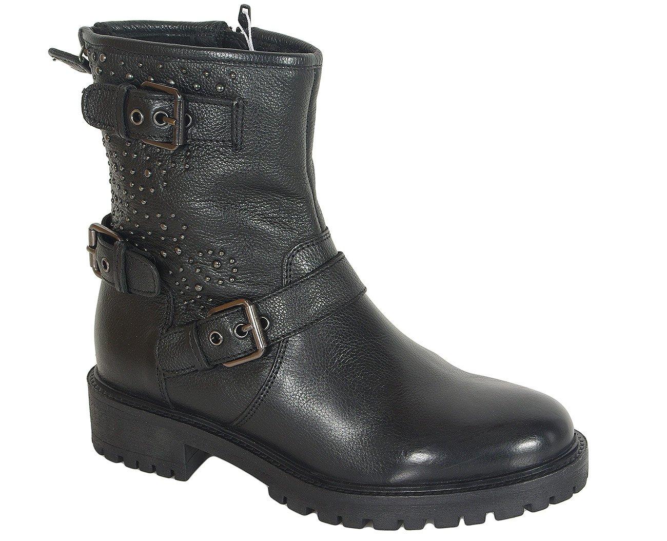 Geox Hoara H botki nappa black ankle boots
