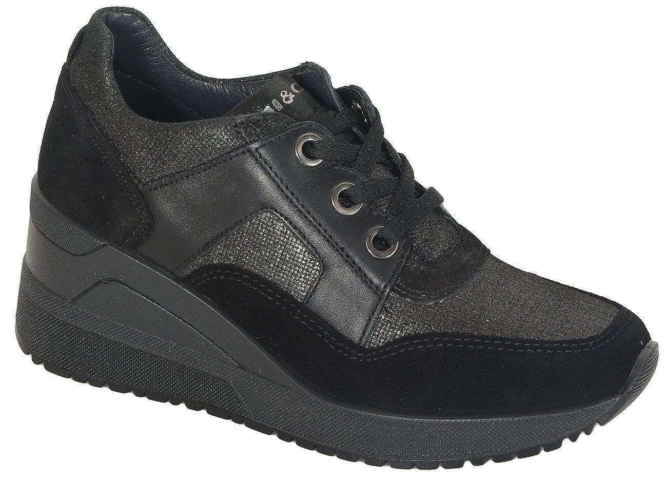 igi&co 41431 sneakers scamosciato nero