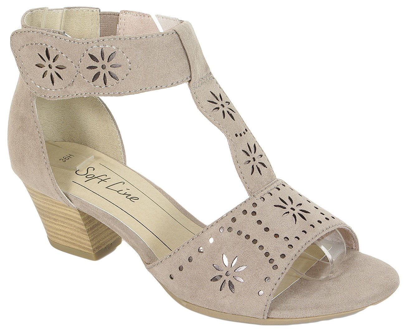 Soft Line 28362 sandały W.H lt.taupe