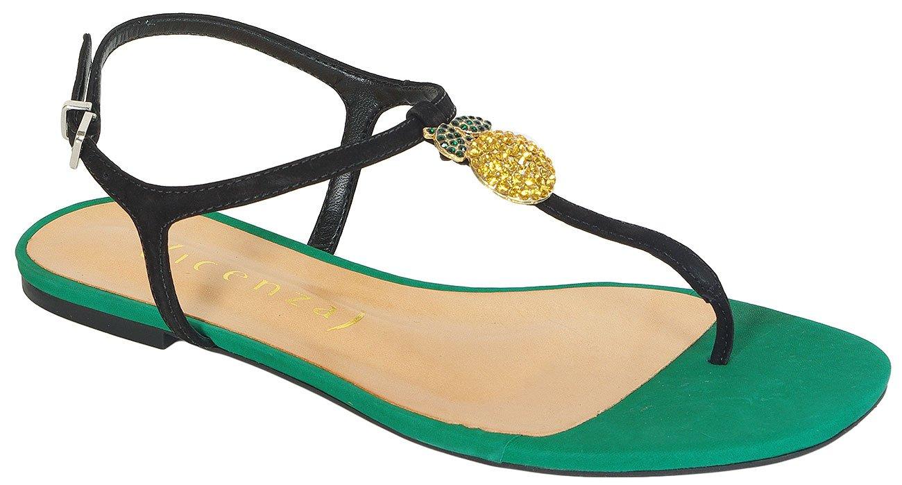 Vicenza Angola sandały nobuck preto esmeralda