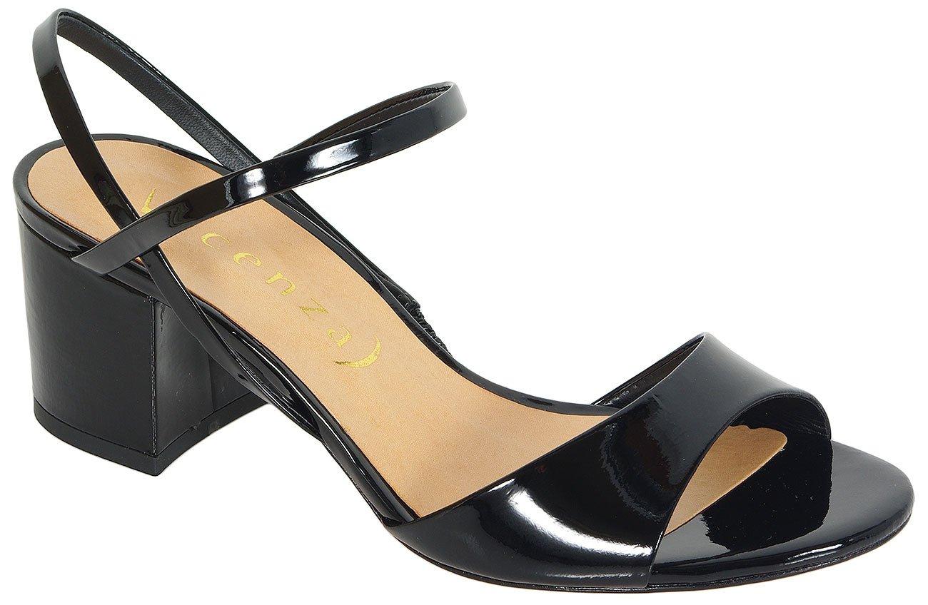 Vicenza Milan sandały verniz preto