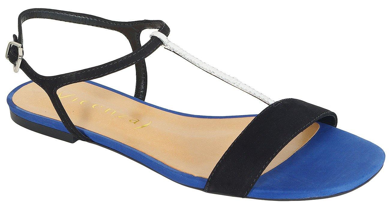 Vicenza Angola sandały nobuck preto/safira