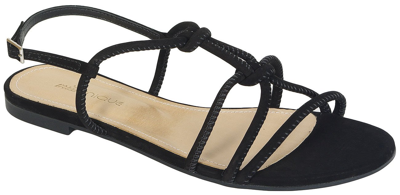Missunique 3101054 sandały nobuck preto