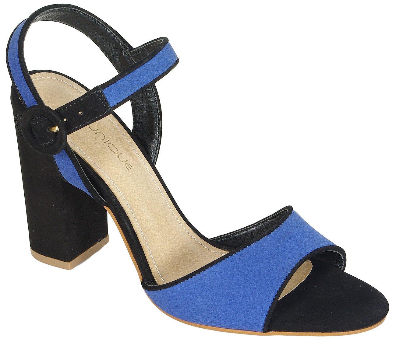 Missunique 3565610 sandały nobuck preto safira