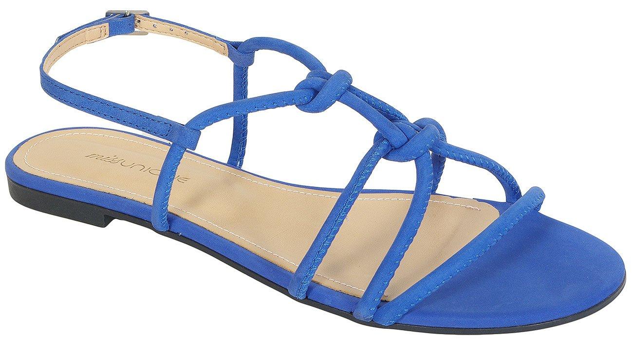 Missunique 3101054 sandały nobuck safira