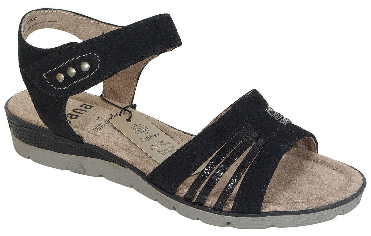 Jana 28609 sandały W.H black