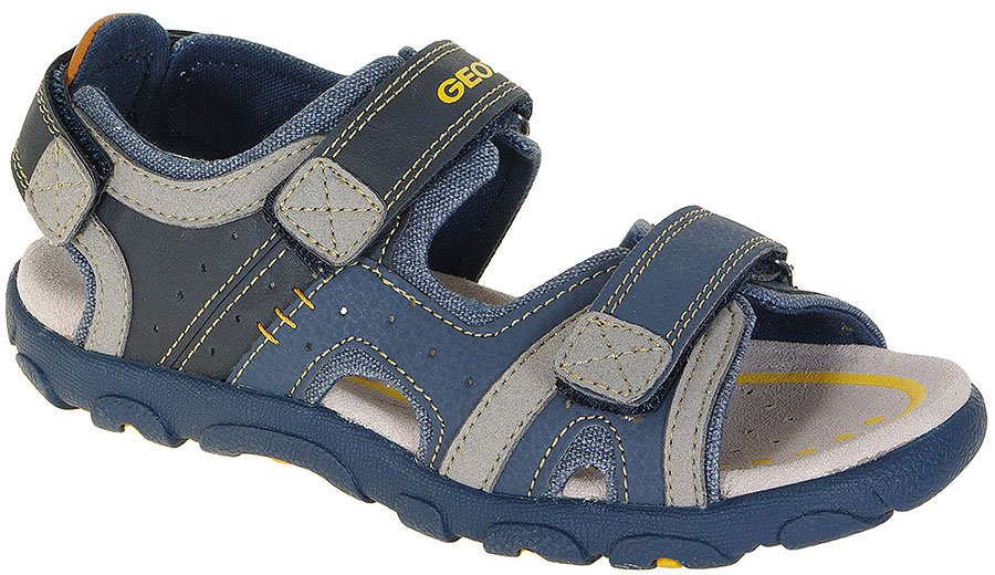 GEOX Strada B Gbk Suede Navy/Grey sandały