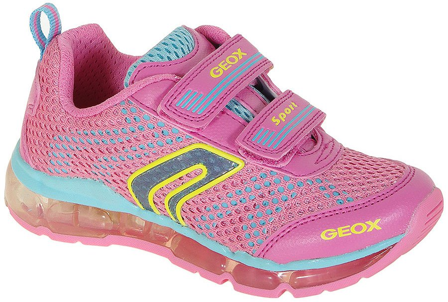 GEOX ANDROID A sneakers MESH+PRIN.DBK PINK/SKY