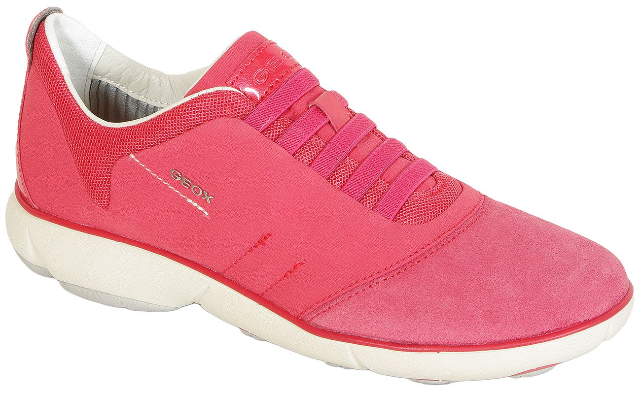 GEOX Nebula C Tess Suede Coral sneakers