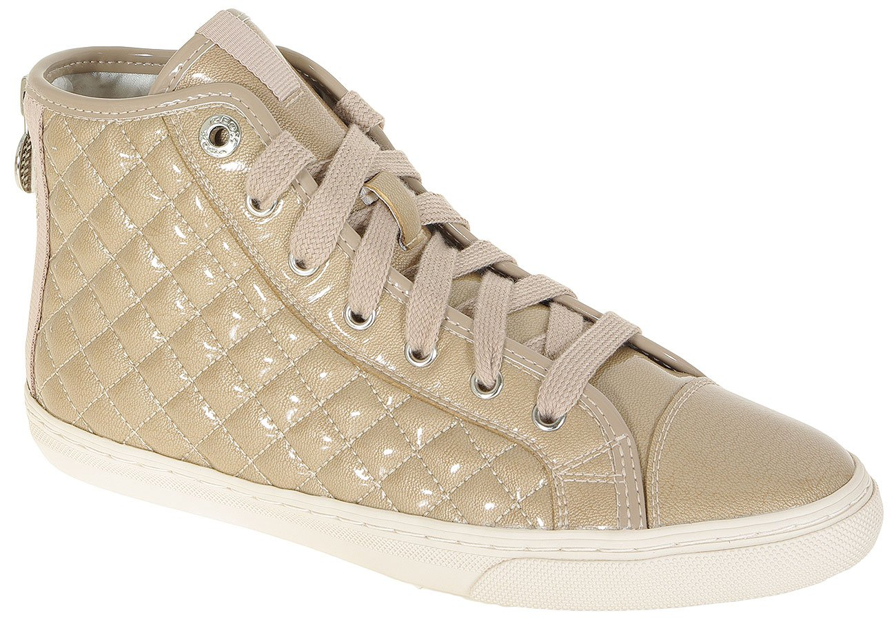 GEOX NEW CLUB A 58A PEARL.SYNT.PAT LT TAUPE SNEAKERS