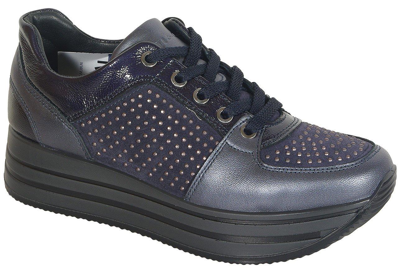 igi&co 41467 sneakers scamosciato super blu