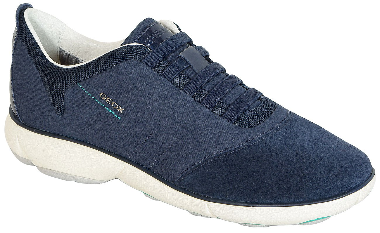 GEOX Nebula C Textile+Suede navy sneakers