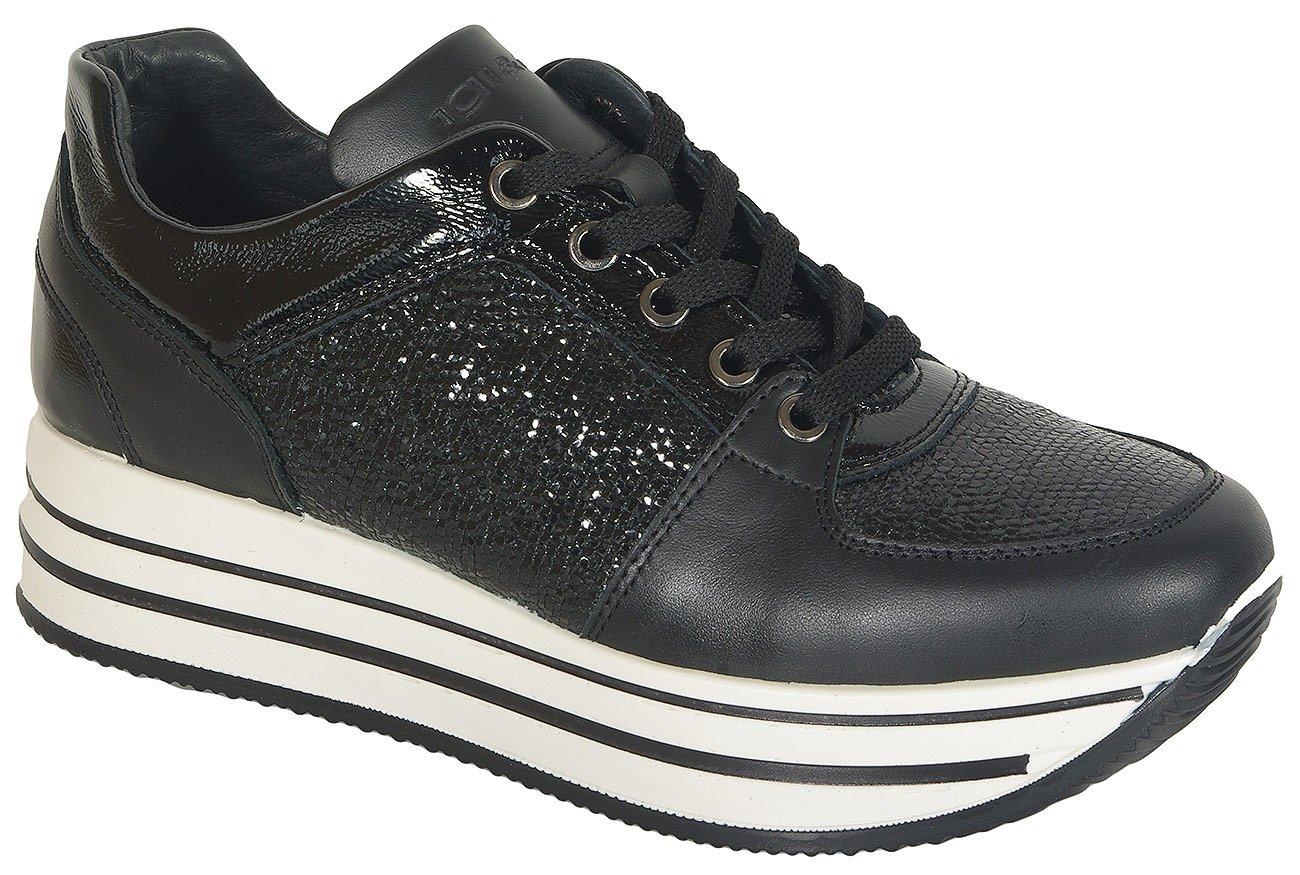 igi&co 41466 sneakers capra nero