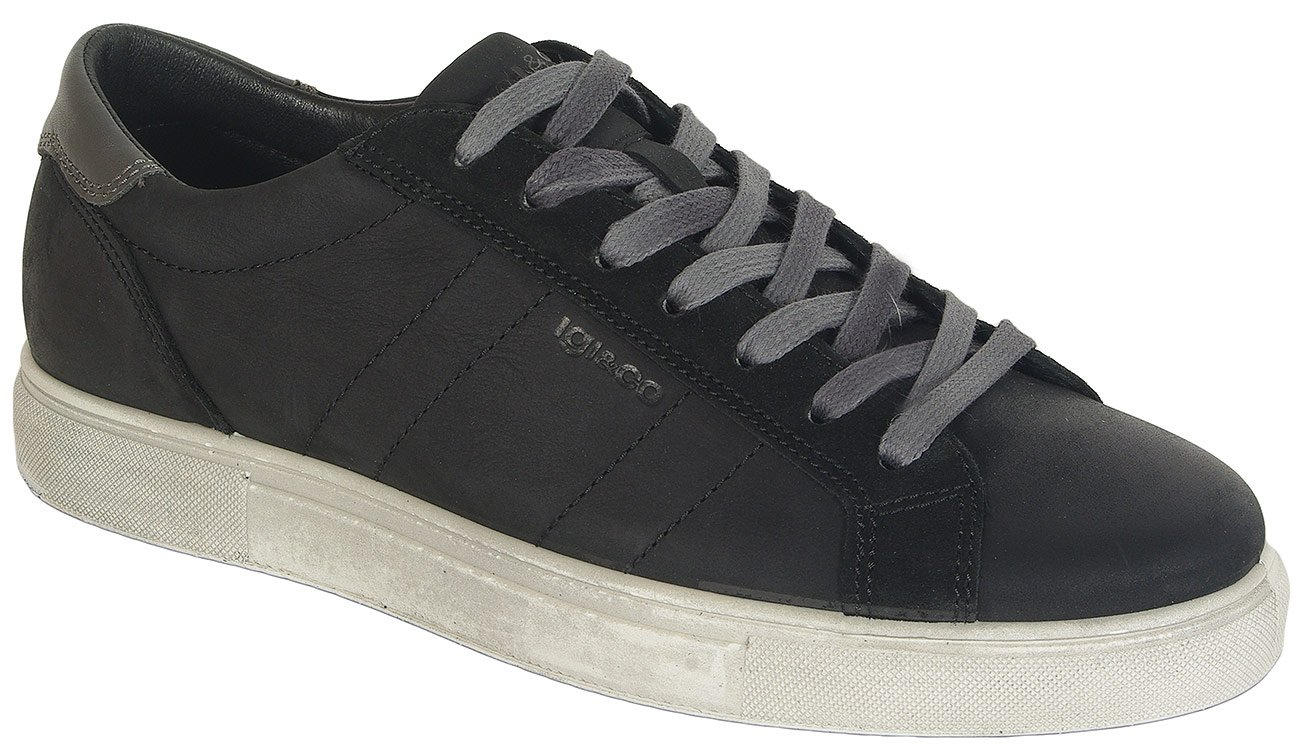 igi&co 41268 sneakers nabuk soft nero