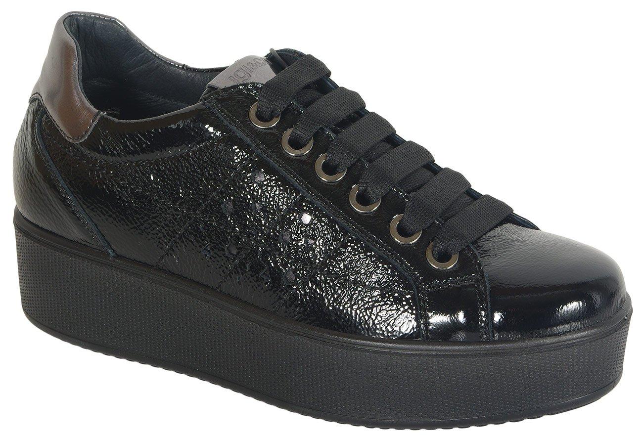 igi&co 41522 sneakers vernice naplak nero