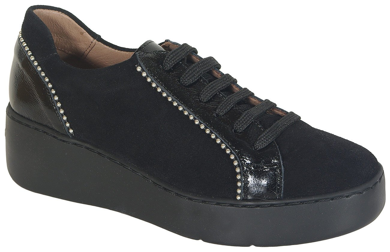 Wonders 8336 sneakers veldry/lack nero