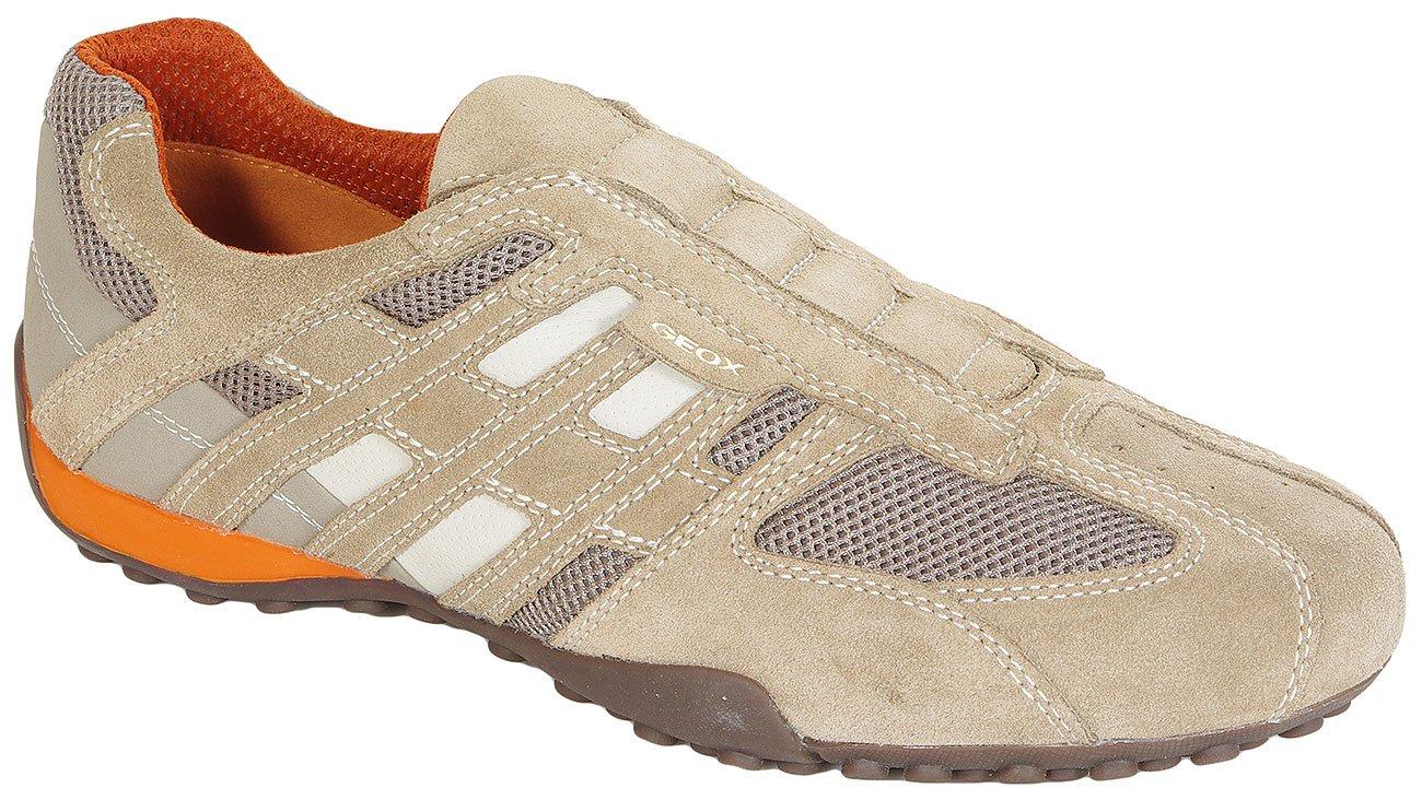 GEOX Snake L Scam+Mesh Beige sneakers