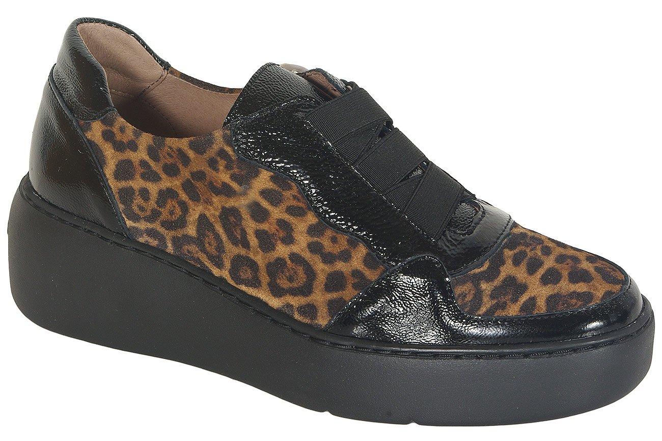 Wonders 8333 loafers lack/serval negro/cuero