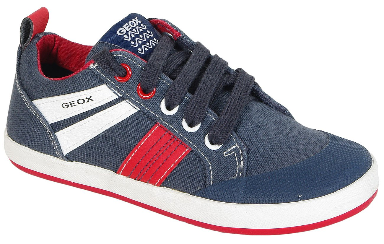 GEOX Kiwi I sneakers Canvas+Geobuck Blue/Red