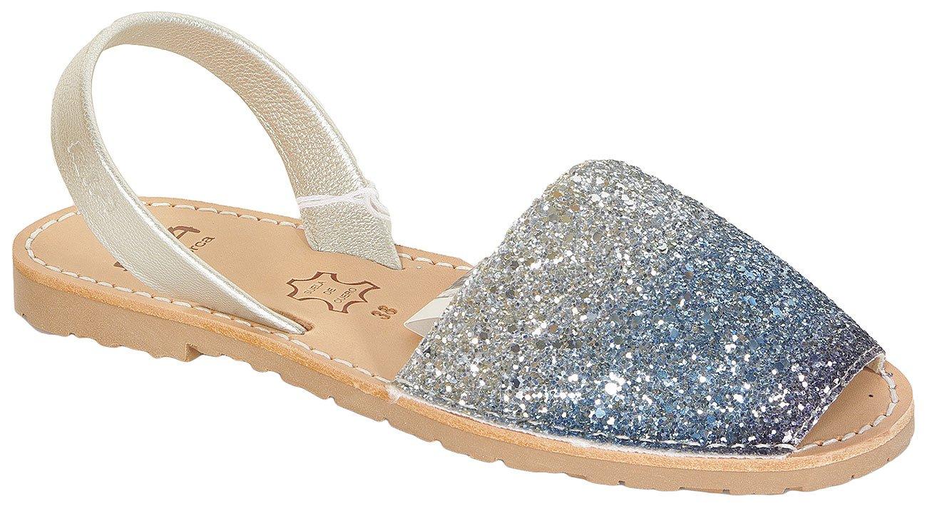 Ria Menorca Chic sandały glitter ilusion grau/silver