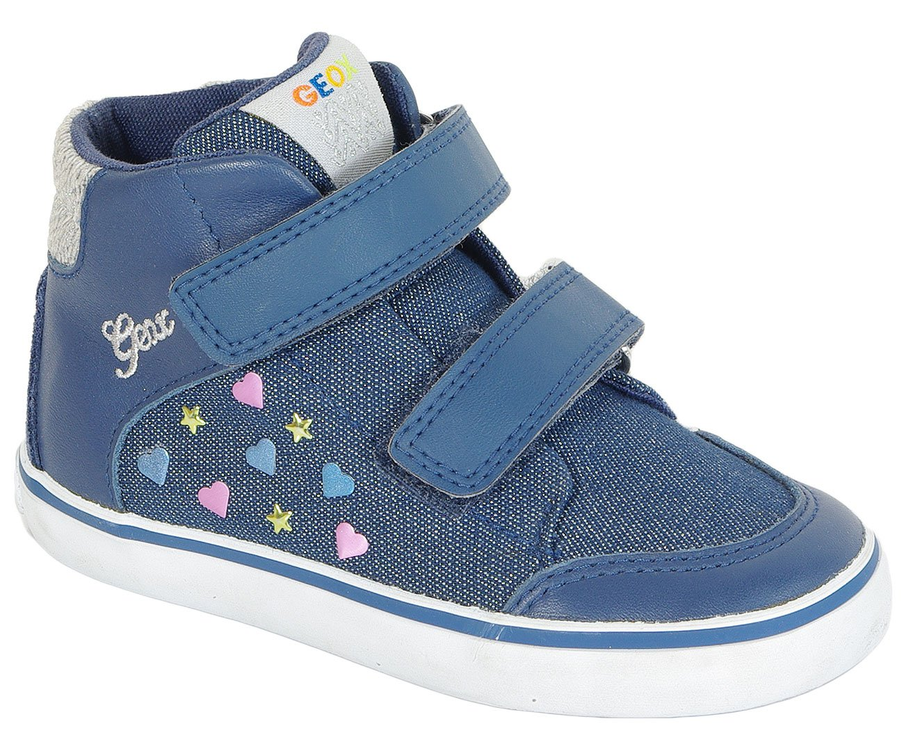 GEOX Kiwi A sneakers Shi Denim+Nappa Navy