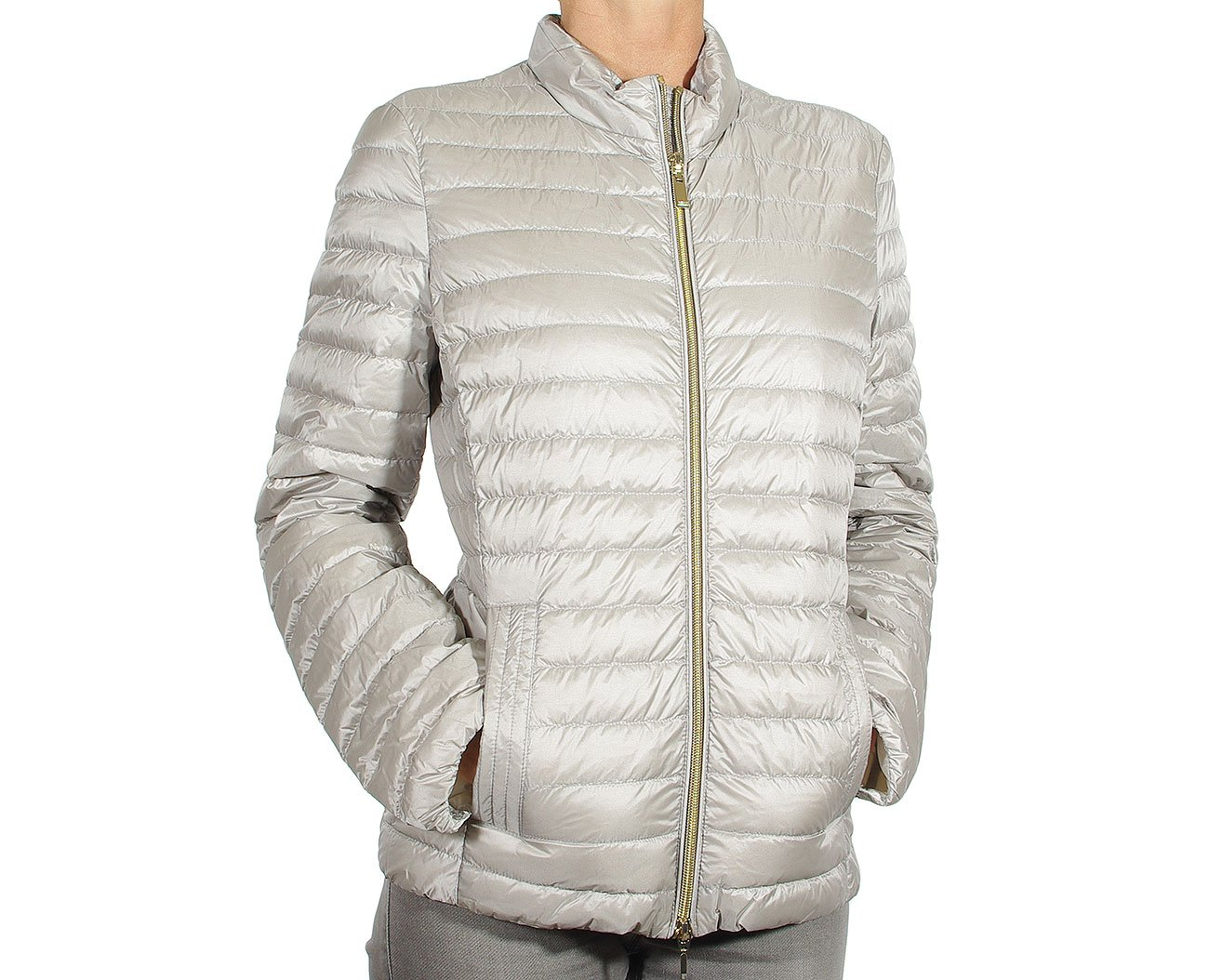 GEOX w8225b kurtka woman jacket sleet grey/blanc
