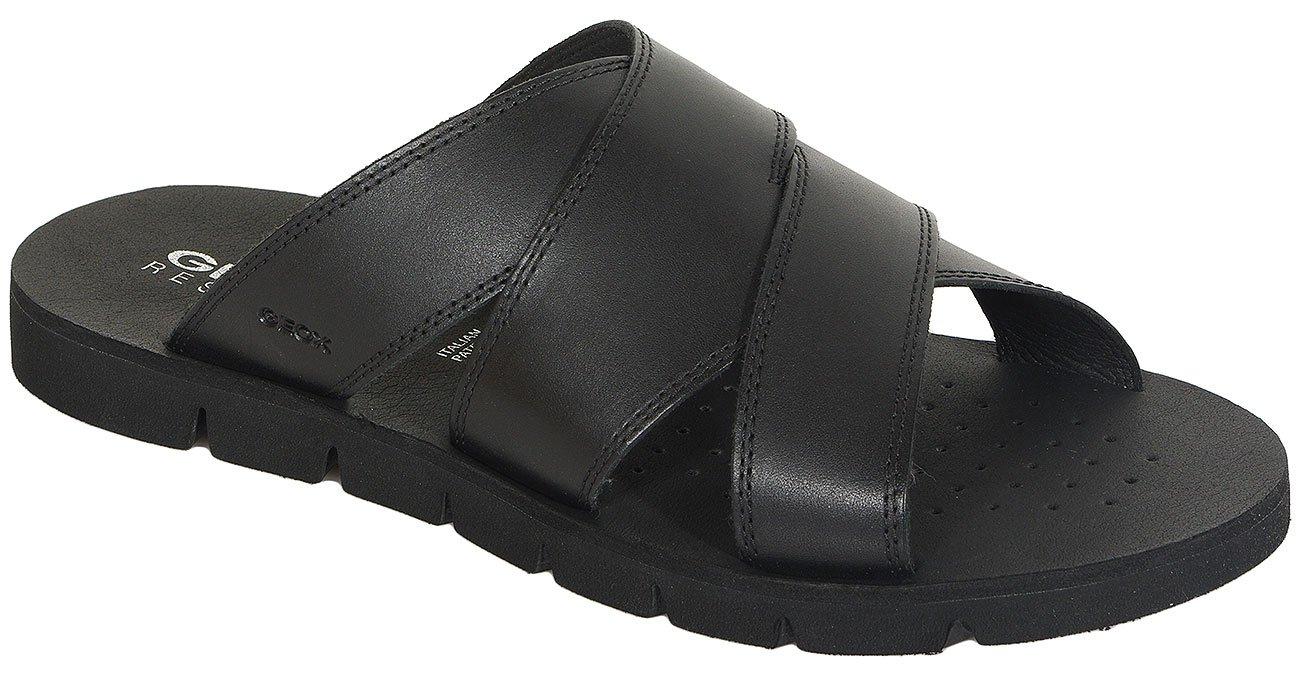 GEOX Glen F klapki smooth leather black