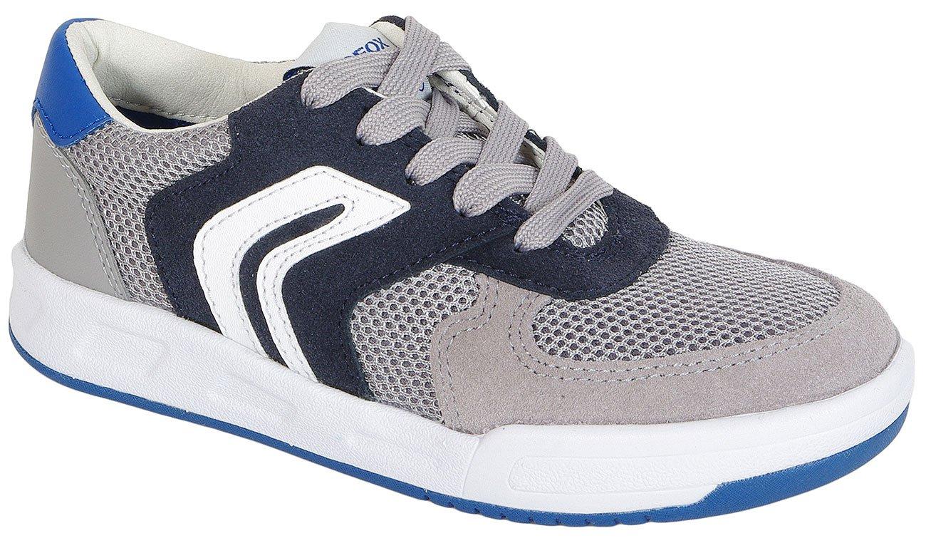 GEOX Rolk B B Mesh+Suede Grey/Navy sneakers