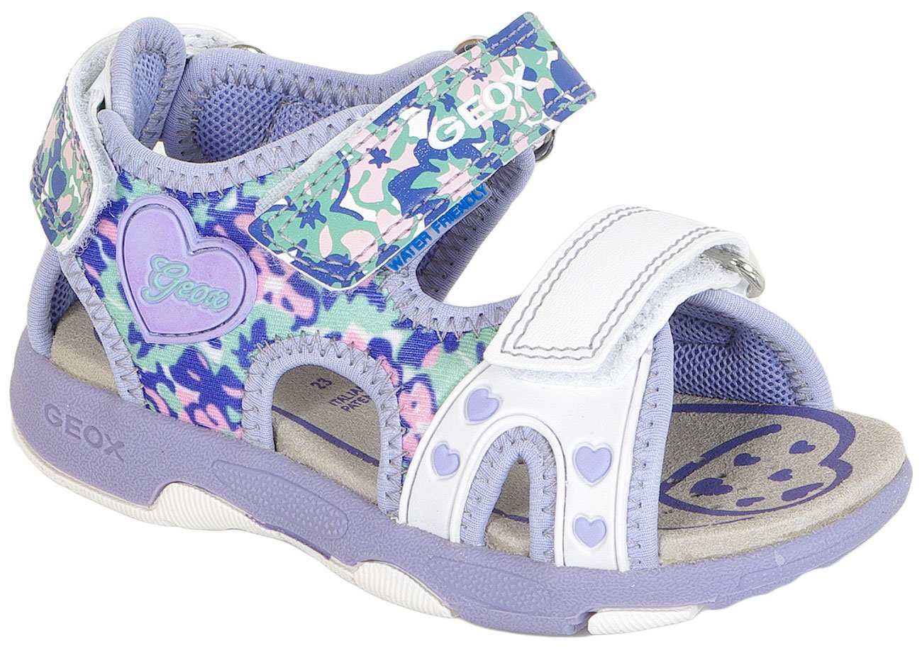 GEOX Multy G B Gbk+Pr Lycra White/Lilac sandały