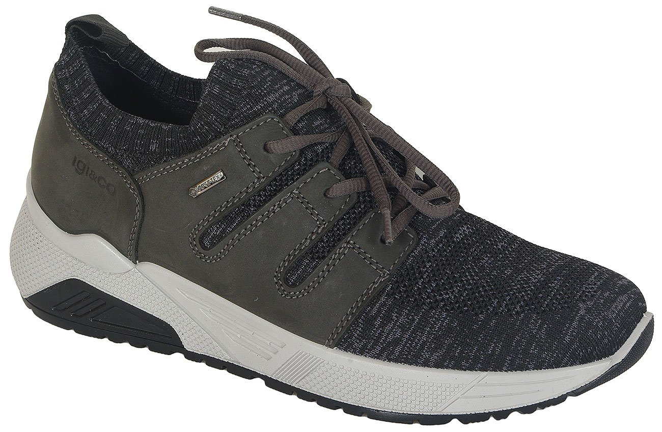 igi&co 41367 sneakers nubuk/knit grigio