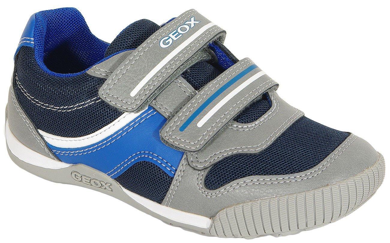 GEOX Nekkar A sneakers wax. synt. leather navy/grey