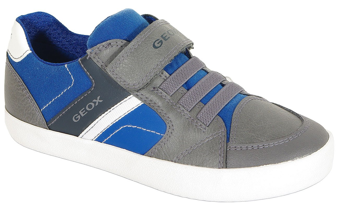 GEOX Gisli D sneakers wax. synt. leather anthracite/royal