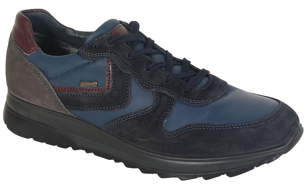 igi&co 41348 sneakers scamosciato/nappa blu