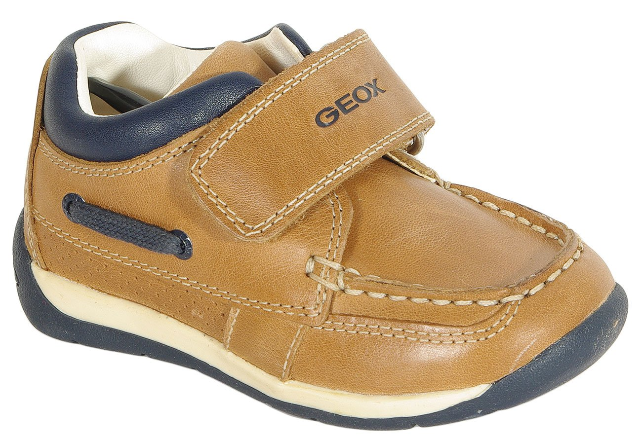 GEOX Each C półbuty wax. leather caramel/navy