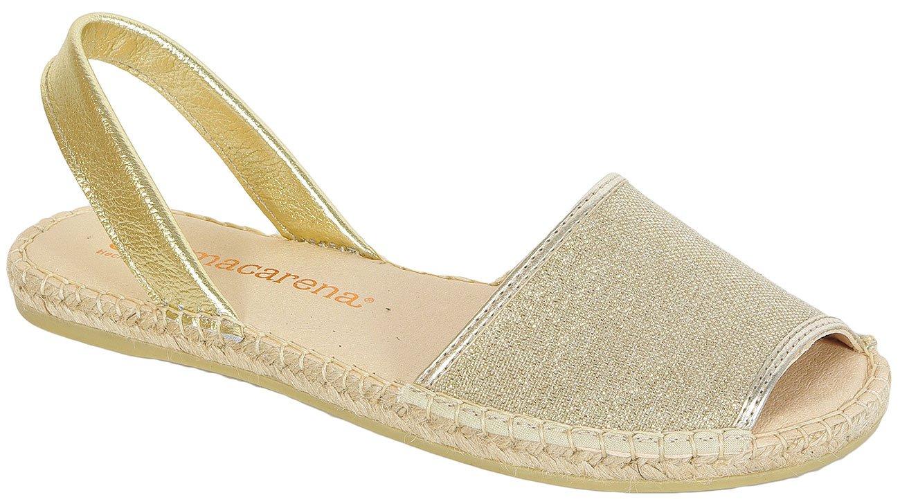 Macarena Playa78 Oro sandały
