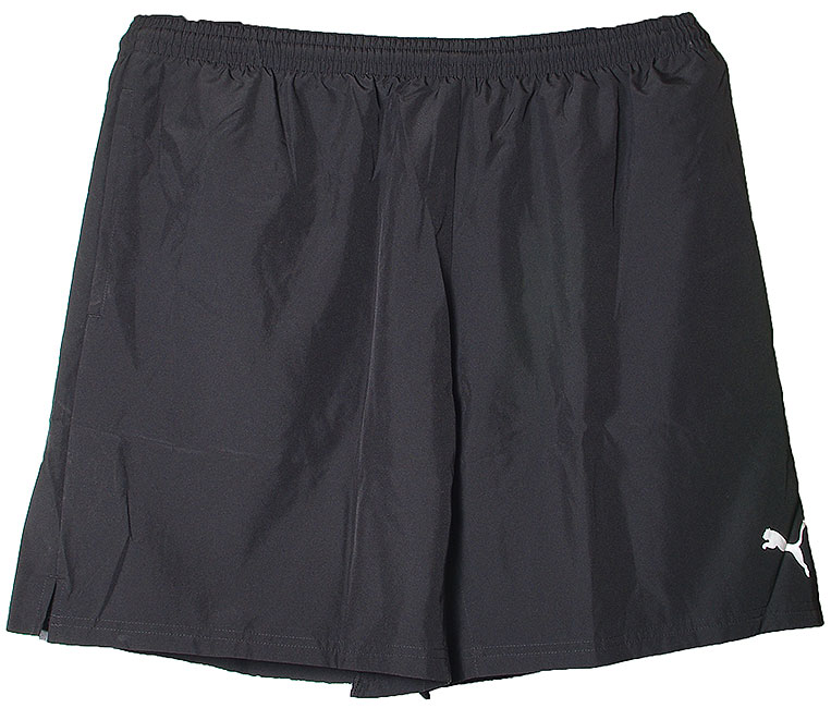 PUMA LEISURE SHORT 653830 BLACK-WHITE SZORTY