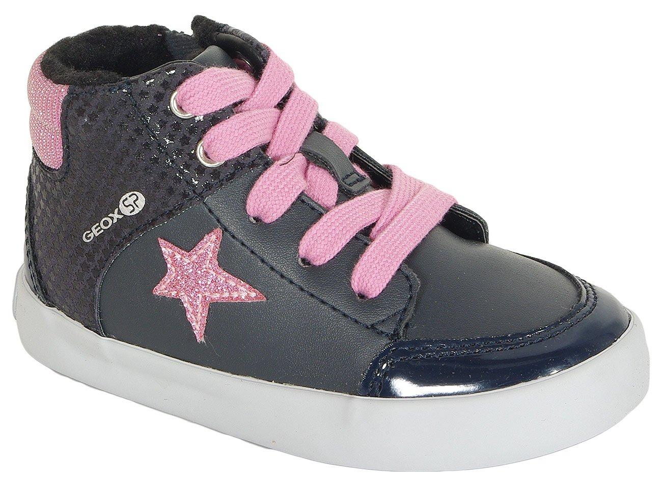 GEOX Gisli A sneakers GBK+suede navy/dk pink