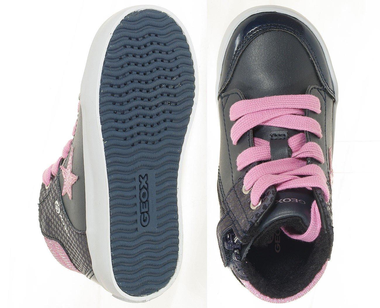 GEOX Gisli A sneakers GBK+suede navydk pink 27