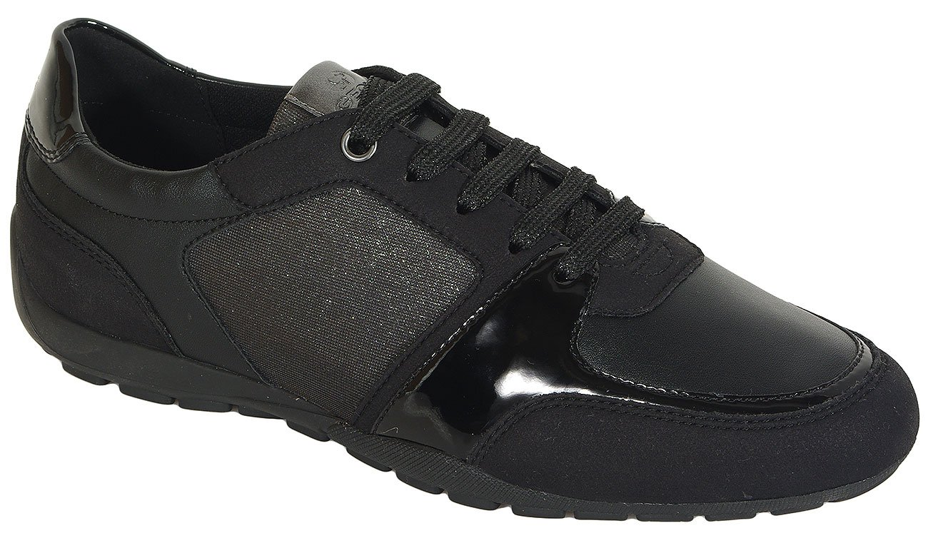 GEOX Ravex B sneakers gliter text+synthetic suede
