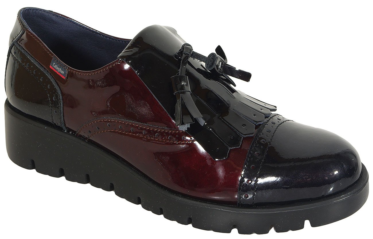 CallagHan Haman loafers sup soft lac black/burdeo