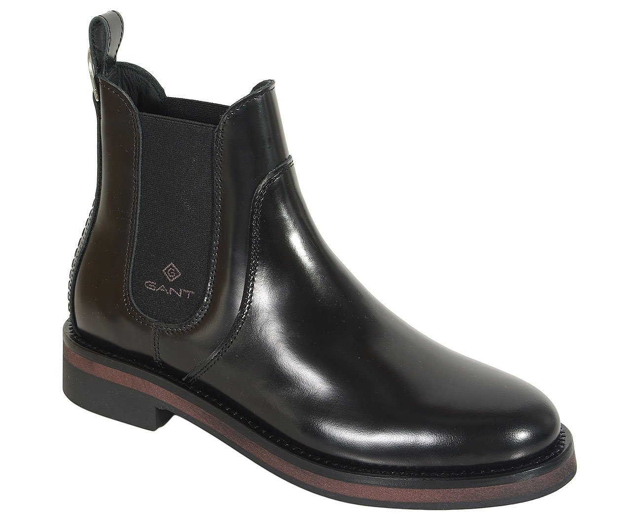 Gant Malin botki polid leather black