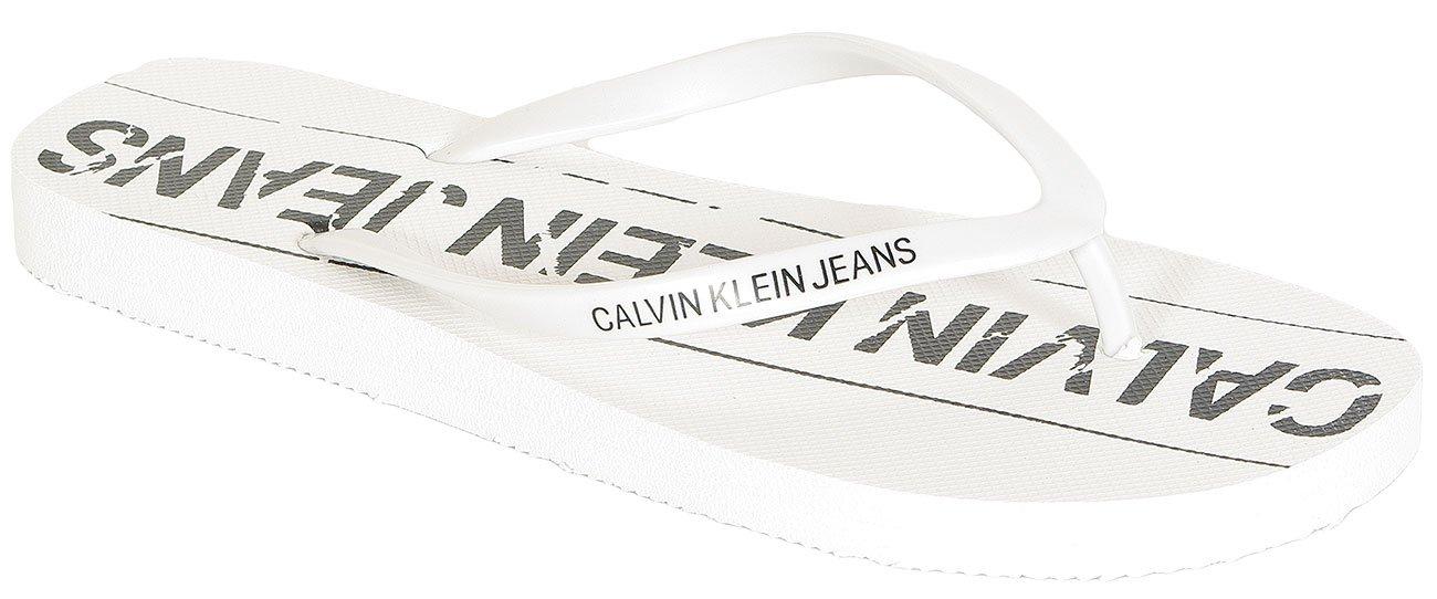 Calvin Klein Jeans Dasheen japonki Flip Flop Jelly white/bla