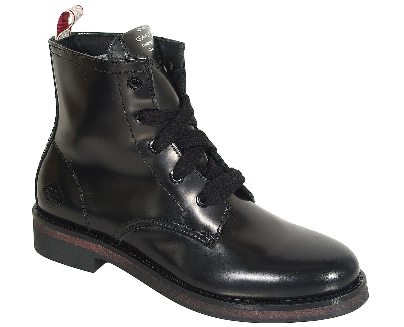Gant Malin trzewiki polido leather black