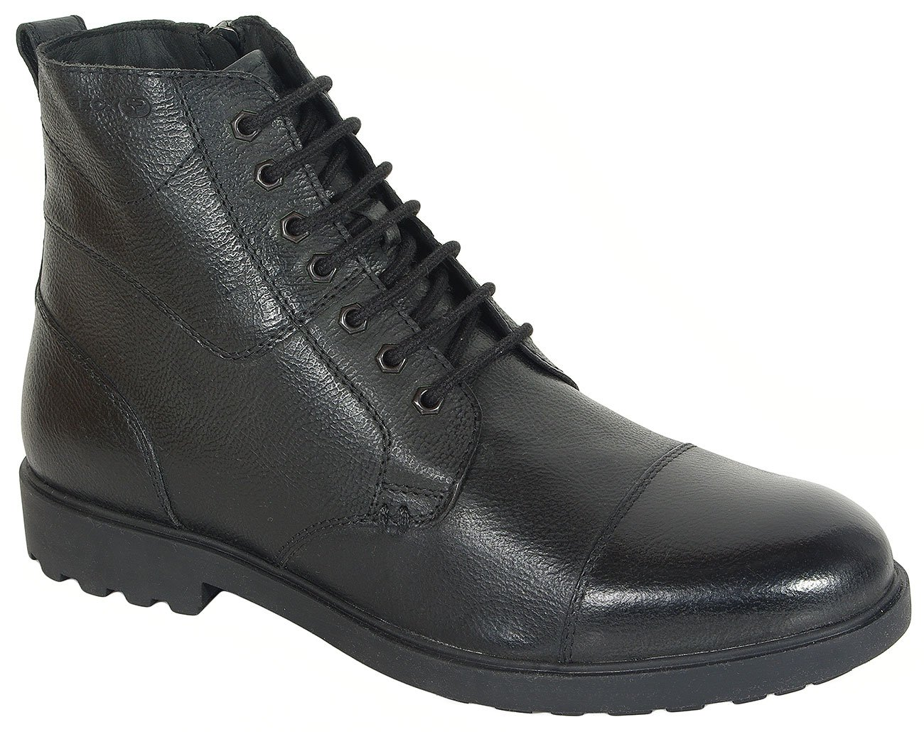 GEOX Rhadalf E trzewiki wrink leather black